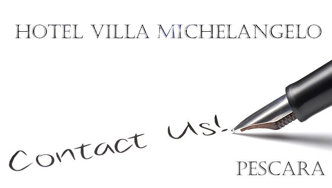 Contact us - Hotel Villa Michelangelo Pescara